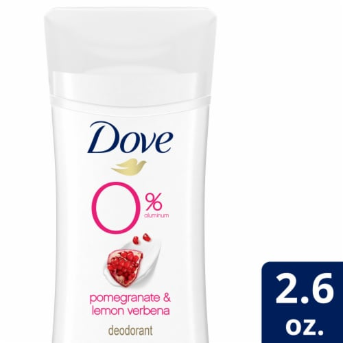 Dove Pomegranate & Lemon Verbena 0% Aluminum Deodorant Perspective: front