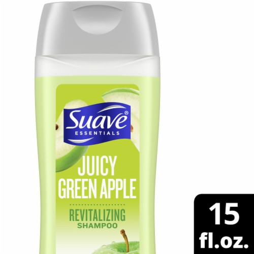 Suave Essentials Juicy Green Apple Revitalizing Shampoo Perspective: front