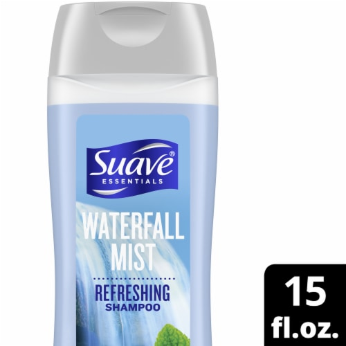 Suave Essentials Waterfall Mist Refreshing Shampoo Perspective: front