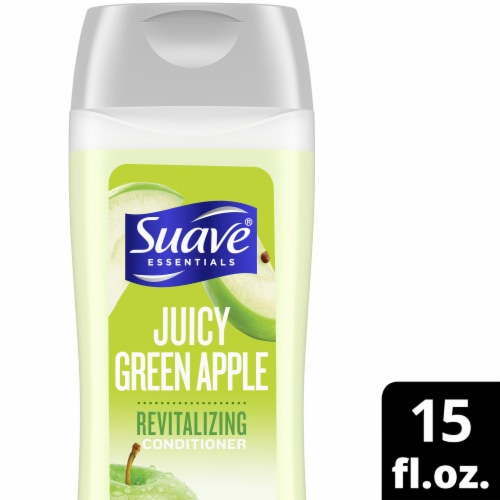 Suave Essentials Juicy Green Apple Revitalizing Conditioner Perspective: front