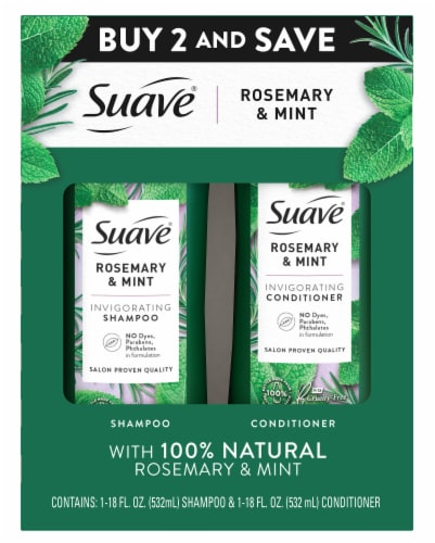 Suave Rosemary Mint Shampoo and Conditioner Twin Pack Perspective: front