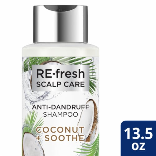 RE-fresh Scalp Care Coconut + Soothe Anti-Dandruff Shampoo Perspective: front