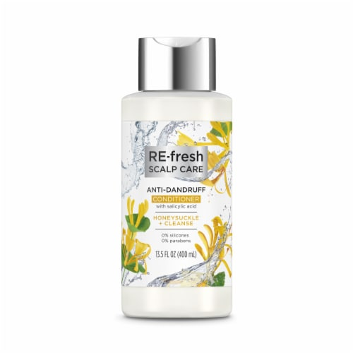 RE-fresh Scalp Care Honeysuckle + Cleanse Anti-Dandruff Conditioner Perspective: front