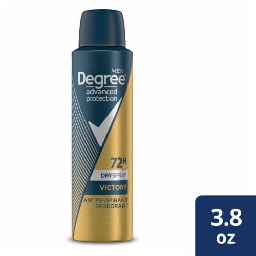 Degree Men Victory Juniper & Vanilla Antiperspirant & Deodorant Dry Spray Perspective: front