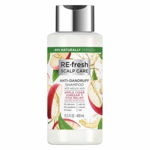 RE-fresh Scalp Care Apple Cider Vinegar & Itch Relief Anti-Dandruff Shampoo Perspective: front