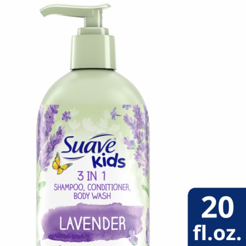 Suave Kids 3 in 1 Lavender Shampoo Conditioner and Body Wash Perspective: front