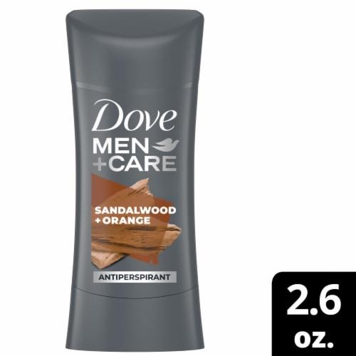 Dove Men+Care Sandalwood + Orange Antiperspirant Deodorant Stick Perspective: front