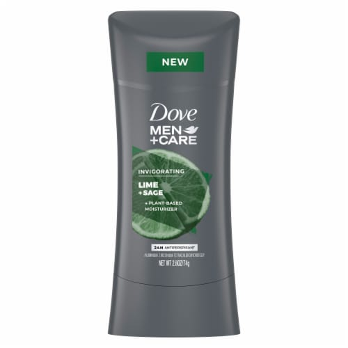 Dove Men+Care Invigorating Lime + Sage Antiperspirant Perspective: front
