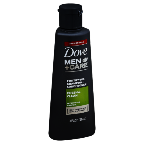 Dove Men Care Fresh & Clean Travel Size Shampoo & Conditioner Perspective: front