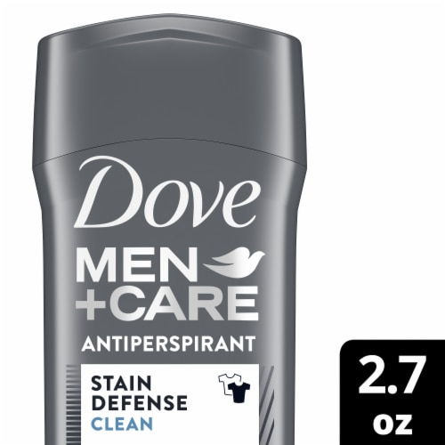 Dove Men + Care Stain Defense Clean Invisible Solid Antiperspirant Stick Perspective: front