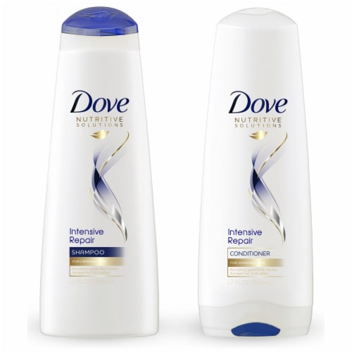 Dove Intensive Repair Shampoo & Conditioner Perspective: front