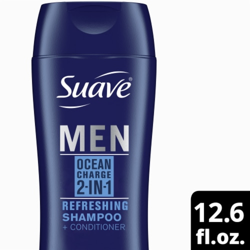 Suave Professionals Men Ocean Charge 2-in-1 Shampoo & Conditioner Perspective: front