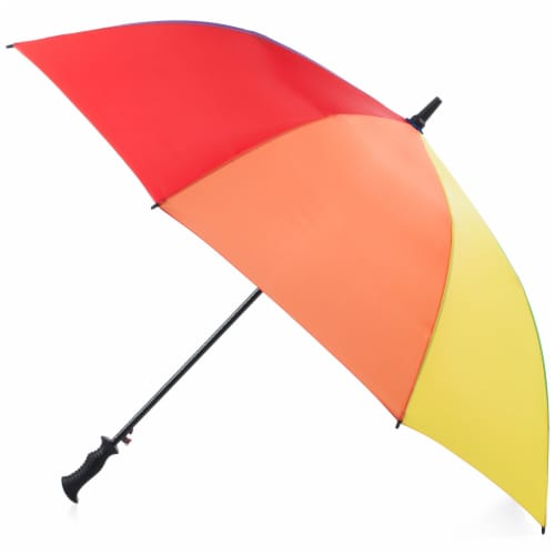 Totes Auto Open Vented Golf Umbrella - 60 in Perspective: front
