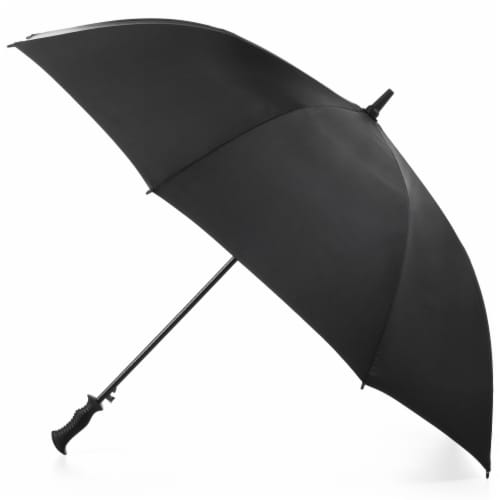 Totes Signature Open Vented Golf Umbrella - 60 in Perspective: front