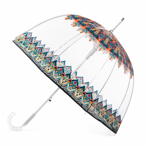 Totes Signature Clear Bubble Umbrella Perspective: front