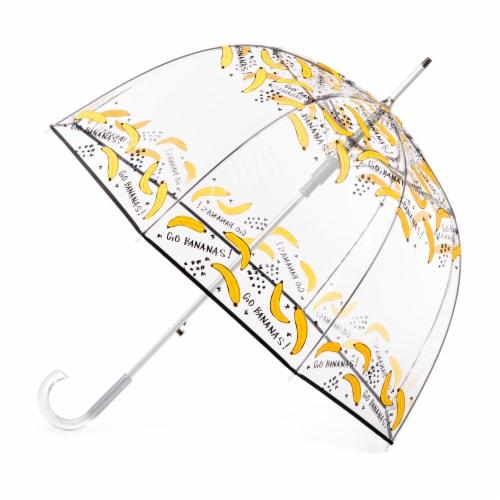Totes Signature Clear Bubble Umbrella Perspective: front