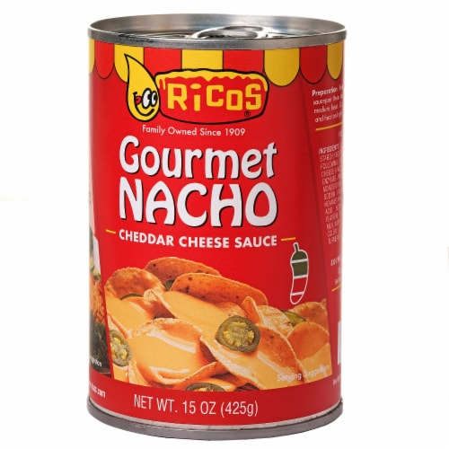 Ricos Gourmet Nacho Cheddar Cheese Sauce Perspective: front