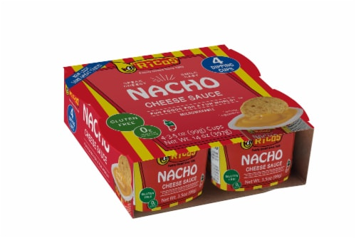 Ricos Nacho Cheese Sauce Dipping Cups 4 Count Perspective: front
