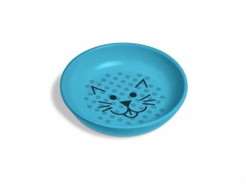 Van Ness Ecoware Cat Dish - Blue Perspective: front