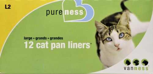 Van Ness Large Cat Pan Liners Perspective: front