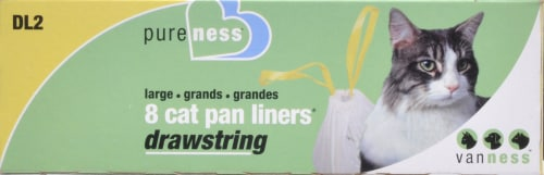 Van Ness Large Drawstring Cat Pan Liners Perspective: front