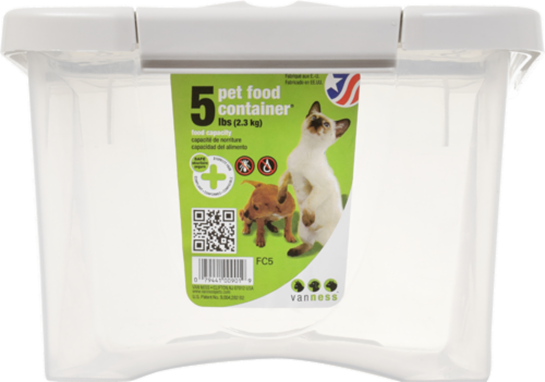Vanness Pet Food Storage Container Perspective: front