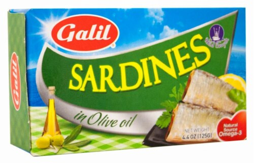 Galil Sardines in Olive Oil Perspective: front