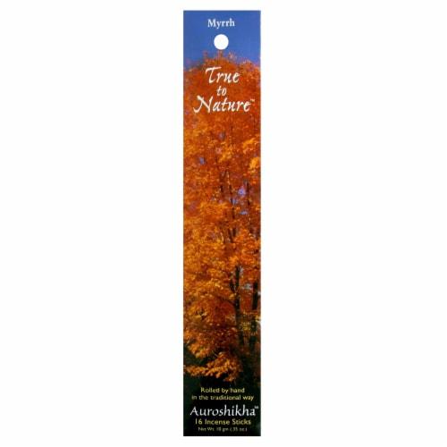 Auroshikha Myrrh Incense Sticks Perspective: front