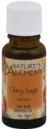 Nature's Alchemy Clary Sage Essential Oil Perspective: front
