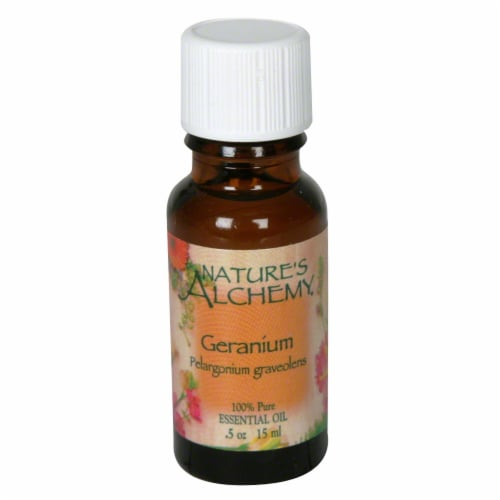 Nature's Alchemy Essential Oil In Geranium Perspective: front
