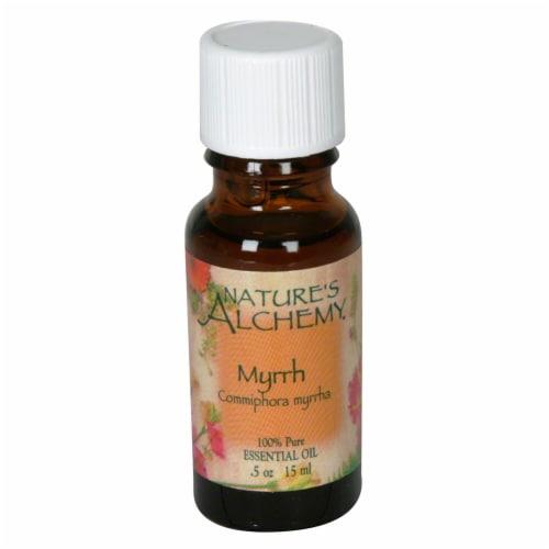 Nature's Alchemy Essential Myrrh Oil Perspective: front