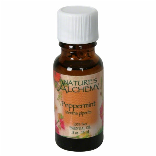 Nature's Alchemy Essential Peppermint Oil Perspective: front