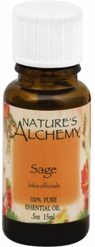 Nature's Alchemy Essential Sage Oil Perspective: front