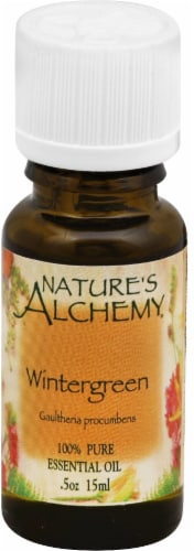 Nature's Alchemy Essential Wintergreen Oil Perspective: front