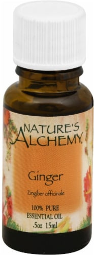 Nature's Alchemy Ginger Essential Oil Perspective: front