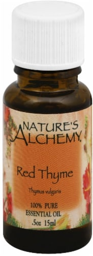 Nature's Alchemy Red Thyme Essential Oil Perspective: front