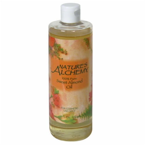Nature's Alchemy Sweet Almond Oil Perspective: front