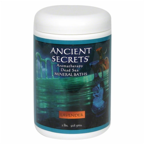 Ancient Secrets Lavender Aromatherapy Dead Sea Mineral Bath Salts Perspective: front