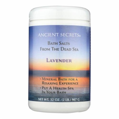 Ancient Secrets Lavender Aromatherapy Dead Sea Mineral Bath Salts Perspective: front