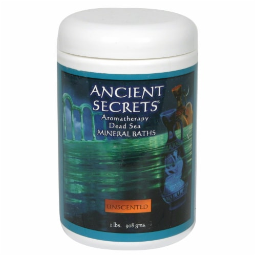 Ancient Secrets Unscented Aromatherapy Dead Sea Mineral Bath Salts Perspective: front