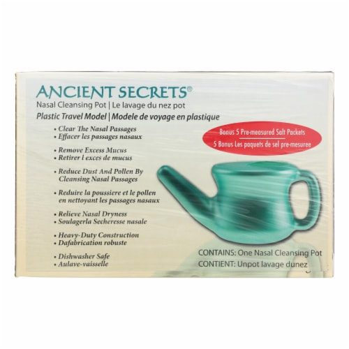 Ancient Secrets Nasal Cleansing Pot Travel Neti Pot Perspective: front