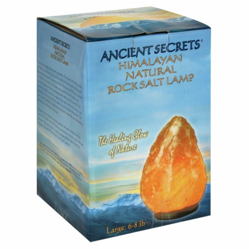 Ancient Secrets Himalayan Natural Rock Salt Lamp Perspective: front