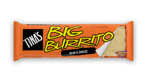 Tina's Bean and Cheese Big Burrito Perspective: front