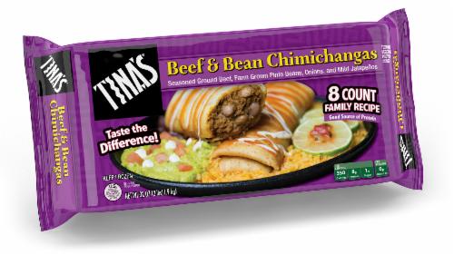 Tina's Beef & Bean Chimichanga Perspective: front
