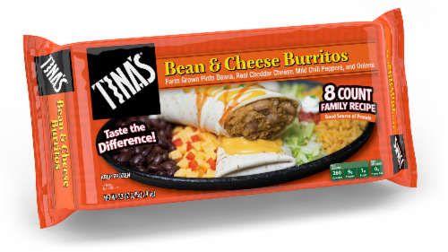 Tina's Bean & Cheese Burritos Perspective: front