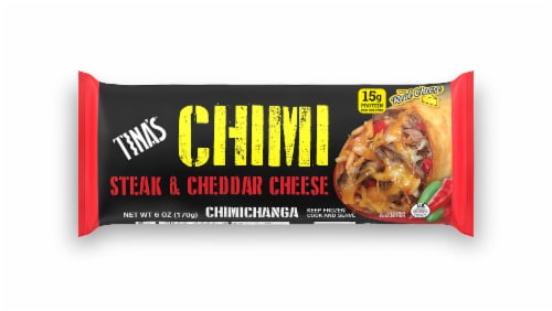 Tina's CHIMI Steak & Cheddar Cheese Chimichanga Perspective: front