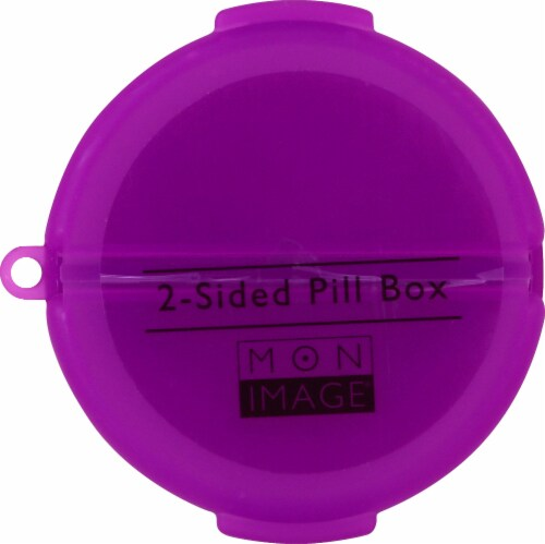 Mon Image® 2-Sided Pill Box Perspective: front