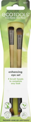 EcoTools Enhancing Eye Brush Set 2 Count Perspective: front