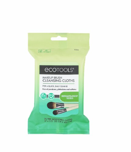 Ecotools Makeup Brush Cleansing Cloths Perspective: front