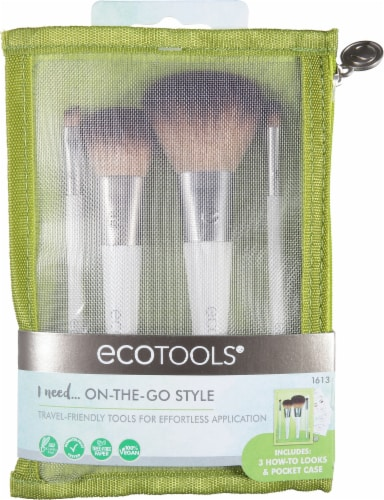 Ecotools On-The-Go Style Brush Kit Perspective: front